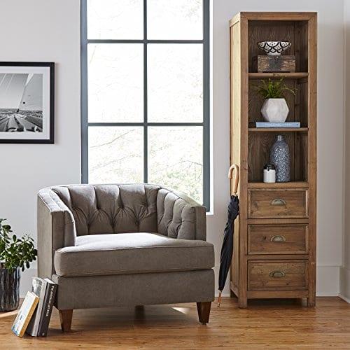 Stone Beam Bryson Narrow Bookcase 197W Wood 0 4
