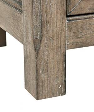 Stone Beam Casual Wood Bookcase 36W Grey 0 0 300x360