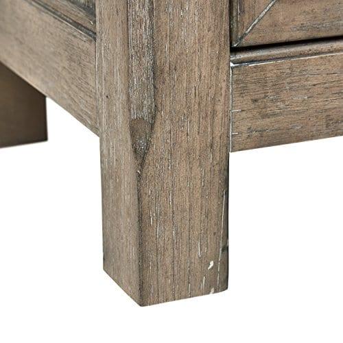 Stone Beam Casual Wood Bookcase 36W Grey 0 0