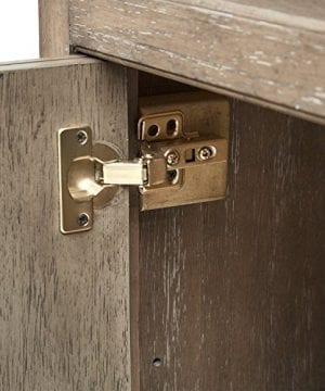 Stone Beam Casual Wood Bookcase 36W Grey 0 1 300x360