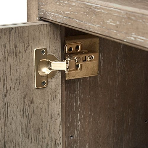 Stone Beam Casual Wood Bookcase 36W Grey 0 1