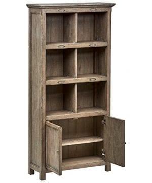 Stone Beam Casual Wood Bookcase 36W Grey 0 2 300x360