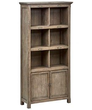 Stone Beam Casual Wood Bookcase 36W Grey 0 300x360