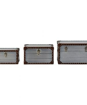 Stone Beam Mid Century Modern Wood Trunks Pack Of 3 Silver 0 0 300x360