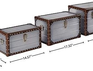 Stone Beam Mid Century Modern Wood Trunks Pack Of 3 Silver 0 2 300x231