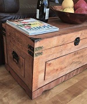 Styled Shopping Newport Medium Wood Storage Trunk Wooden Treasure Chest Brown 0 0 300x360