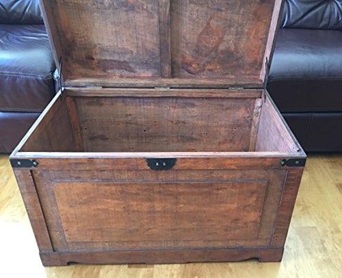 Styled Shopping Newport Medium Wood Storage Trunk Wooden Treasure Chest Brown 0 1
