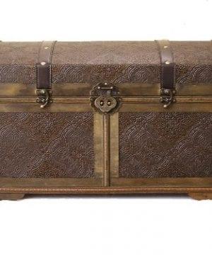 Styled Shopping Nostalgic Large Wood Storage Trunk Wooden Treasure Chest 0 300x360