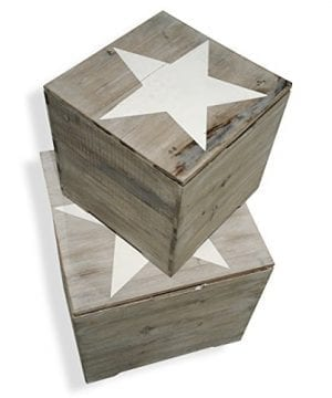 The Rustic Cape Cod Star Decorative Furniture Cubes Set Of 2 Sustainable Wood Quality Hardware Driftwood Gray 15 34 X 15 34 X 15 34 And 11 X 11 X 11 Inches By Whole House Worlds 0 0 300x360