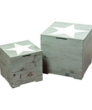 The Rustic Cape Cod Star Decorative Furniture Cubes Set Of 2 Sustainable Wood Quality Hardware Driftwood Gray 15 34 X 15 34 X 15 34 And 11 X 11 X 11 Inches By Whole House Worlds 0 300x360