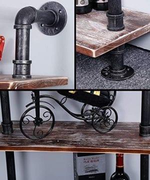 Ucared Industrial Shelving 6 Tier Modern Wood Ladder ShelfDesign Rustic BookshelfDIY Vintage Pipe ShelvesWall ShelvesDisplay ShelvingWood Shelves Utility Storage Rack 0 2 300x360