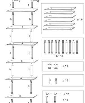 Ucared Industrial Shelving 6 Tier Modern Wood Ladder ShelfDesign Rustic BookshelfDIY Vintage Pipe ShelvesWall ShelvesDisplay ShelvingWood Shelves Utility Storage Rack 0 5 300x360
