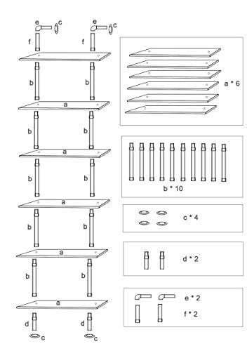 Ucared Industrial Shelving 6 Tier Modern Wood Ladder ShelfDesign Rustic BookshelfDIY Vintage Pipe ShelvesWall ShelvesDisplay ShelvingWood Shelves Utility Storage Rack 0 5