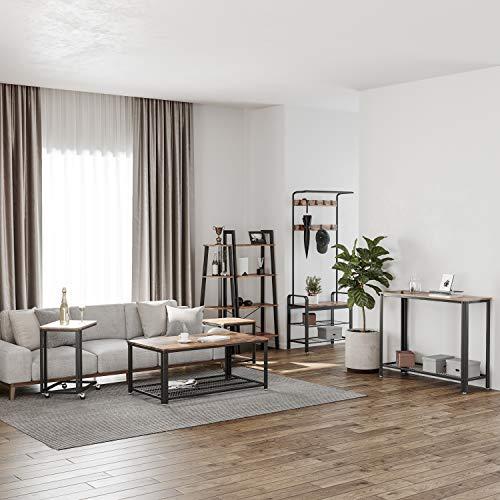 VASAGLE Industrial Ladder Shelf, 4-Tier Bookshelf, Storage Rack Shelves,  Bathroom, Living Room, Wood Look Accent Furniture, Metal Frame, Rustic  Brown ...