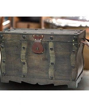 Vintiquewise QI003250L Antique Style Distressed Wooden Pirate Treasure Chest Coffee Table Trunk 0 0 300x360