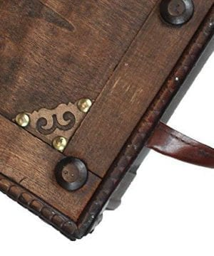 Vintiquewise QI003250L Antique Style Distressed Wooden Pirate Treasure Chest Coffee Table Trunk 0 2 300x360