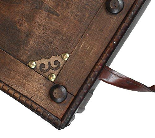 Vintiquewise QI003250L Antique Style Distressed Wooden Pirate Treasure Chest Coffee Table Trunk 0 2