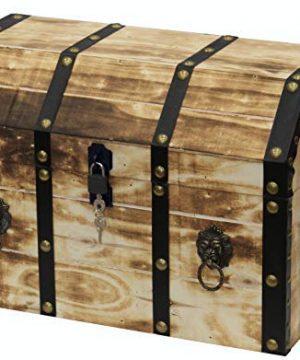 Vintiquewise QI003319L Storage Trunk Tan 0 300x360
