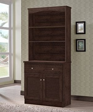 Wholesale Interiors Agni Buffet And Hutch Kitchen Cabinet Dark Brown 0 300x360