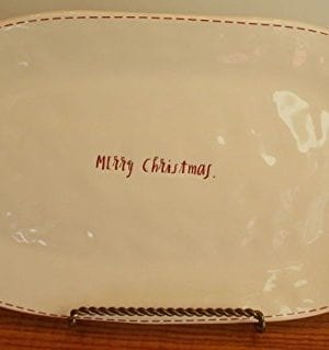 14 Rae Dunn Merry Christmas Serving Platter Plate 0 300x319
