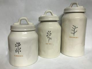 3 Piece Canister Set Rosemary Thyme Parsley Rae Dunn By Magenta 0