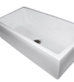 33 Fireclay Sink Single Bowl Farmhouse Apron Kitchen Sink White 0 0 300x333