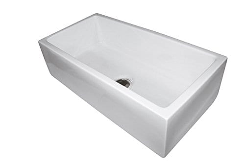 33 Fireclay Sink Single Bowl Farmhouse Apron Kitchen Sink White 0 0