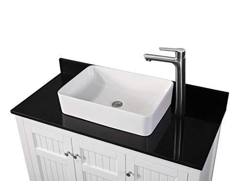 42 Thomasville Farmhouse White Vessel Sink Bathroom Vanity Zk