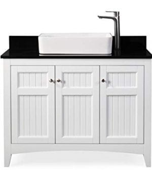 42 Thomasville Farmhouse White Vessel Sink Bathroom Vanity ZK 47888GT 0 300x360