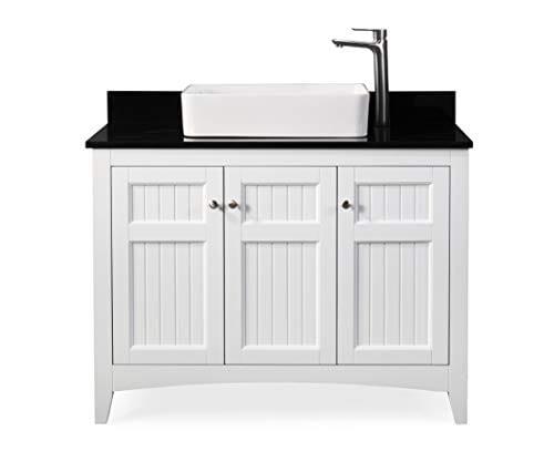 Groovy 42 Thomasville Farmhouse White Vessel Sink Bathroom Vanity Zk 47888Gt Home Interior And Landscaping Ferensignezvosmurscom