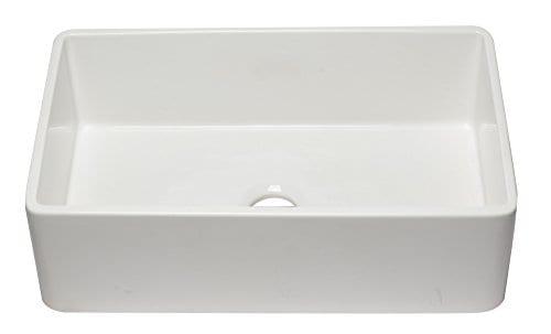 ALFI Brand AB3320SB W 33 Inch White Reversible Single Fireclay Farmhouse Kitchen Sink 0 0