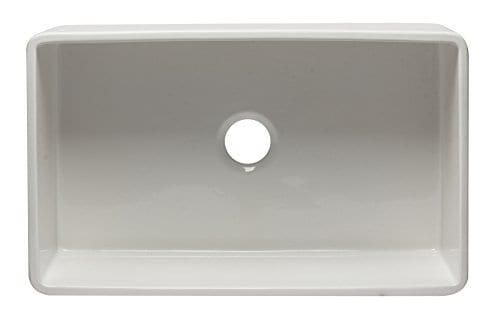 ALFI Brand AB3320SB W 33 Inch White Reversible Single Fireclay Farmhouse Kitchen Sink 0 2
