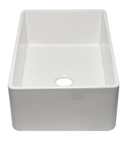 ALFI Brand AB3320SB W 33 Inch White Reversible Single Fireclay Farmhouse Kitchen Sink 0 3
