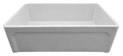 ALFI Brand AB3320SB W 33 Inch White Reversible Single Fireclay Farmhouse Kitchen Sink 0 5