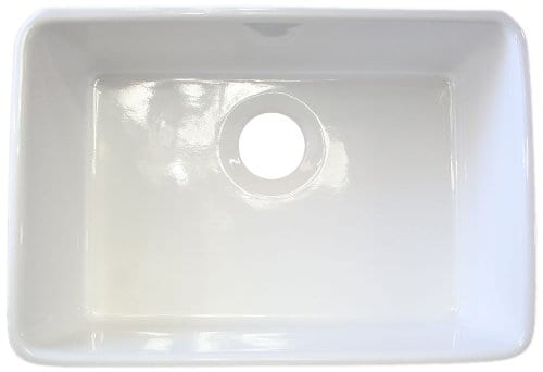 ALFI Brand AB503 23 Inch Fireclay Single Bowl Farmhouse Kitchen Sink White 0 2