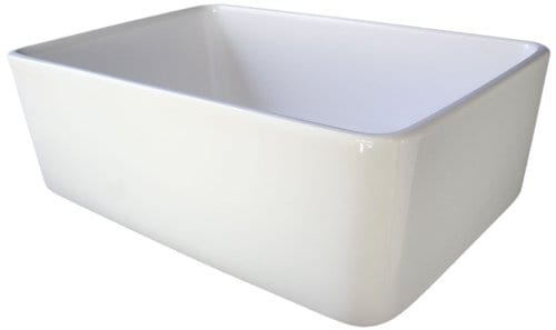 ALFI Brand AB503 23 Inch Fireclay Single Bowl Farmhouse Kitchen Sink White 0