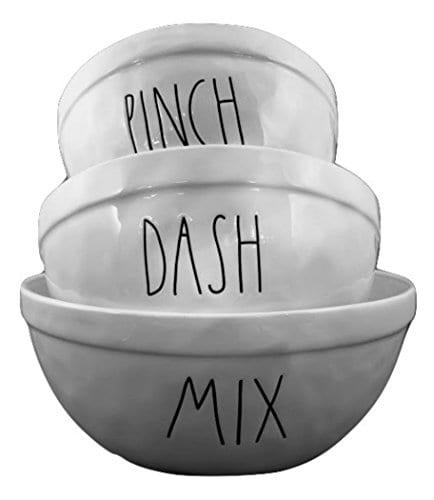 Artisan Collection Rae Dunn Set Of 3 Nesting Mixing Ceramic Bowls Pinch Dash Mix 0