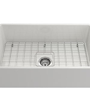 Classico Farmhouse Apron Front Fireclay 30 In Single Bowl Kitchen Sink With Protective Bottom Grid And Strainer In White 0 0 300x333