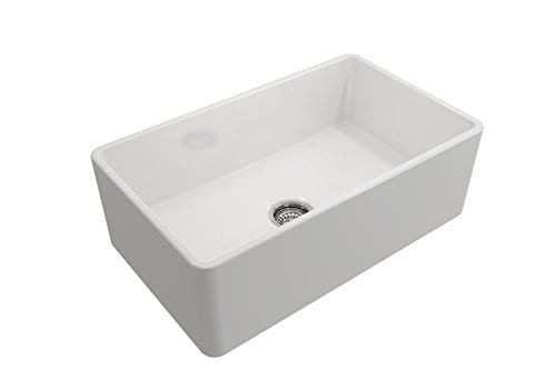 Classico Farmhouse Apron Front Fireclay 30 In Single Bowl Kitchen Sink With Protective Bottom Grid And Strainer In White 0 2
