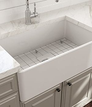 Classico Farmhouse Apron Front Fireclay 30 In Single Bowl Kitchen Sink With Protective Bottom Grid And Strainer In White 0 3 300x350
