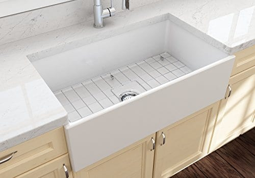 Contempo Farmhouse Apron Front Fireclay 33 In Single Bowl Kitchen Sink With Protective Bottom Grid And Strainer In White 0 0