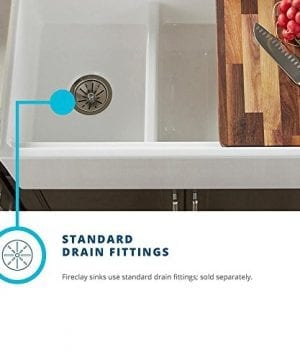 Elkay Fireclay SWUF3320WH Double Bowl Farmhouse Sink With Aqua Divide 0 4 300x360