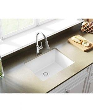 Elkay Quartz Classic ELGU2522WH0 White Single Bowl Undermount Sink 0 0 300x360