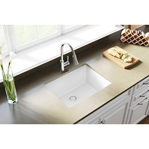 Elkay Quartz Classic ELGU2522WH0 White Single Bowl Undermount Sink 0 0