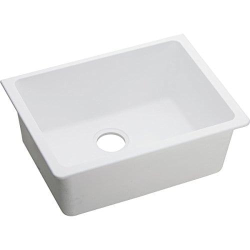 Elkay Quartz Classic ELGU2522WH0 White Single Bowl Undermount Sink 0 1