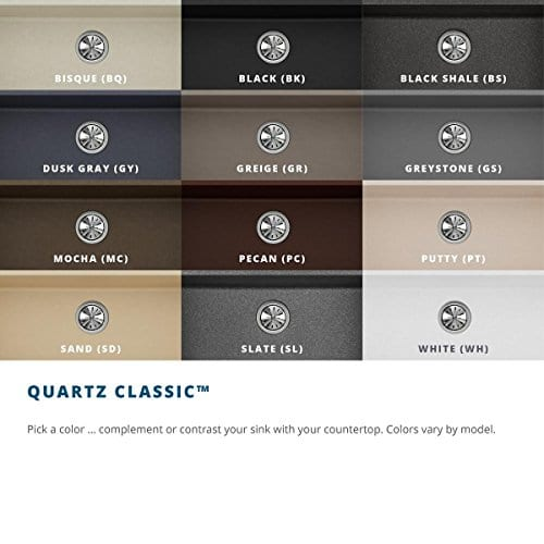 Elkay Quartz Classic ELGU2522WH0 White Single Bowl Undermount Sink 0 4