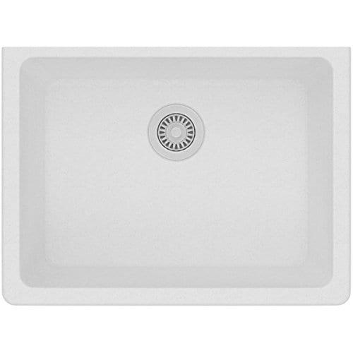 Elkay Quartz Classic ELGU2522WH0 White Single Bowl Undermount Sink 0