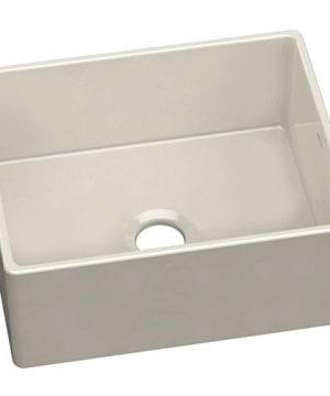 Elkay SWUF2520BI Fireclay Single Bowl Farmhouse Sink Biscuit 0 300x360