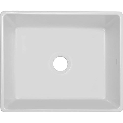 Elkay SWUF2520WH Fireclay Single Bowl Farmhouse Sink White 0
