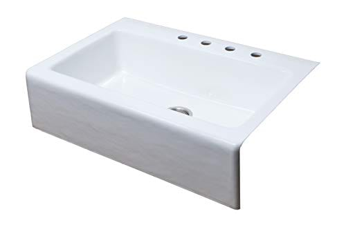 Empire Industries CI33SW Cast Iron Sink 33 White 0